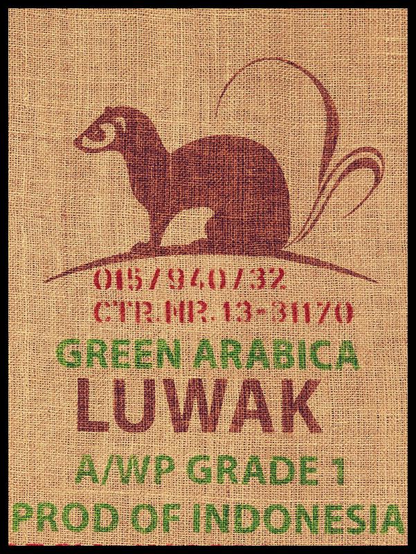 sac de café kopi luwak